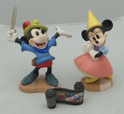 """WDCC Disney """"Brave Little Taylor"""" Mickey and Princess Minnie Mouse Figurines"""