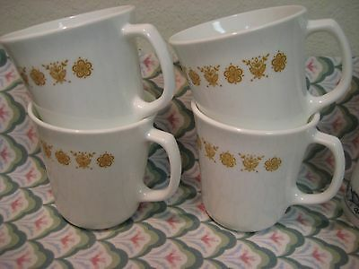 Corelle Set of 4 GOLD BUTTERFLY Mug / Cup  EUC. GORGEOUS! Lot 1