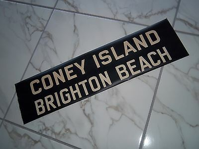 VINTAGE COLLECTIBLE R10 NYC NY BMT SUBWAY 1948 ROLL SIGN CONEY ISLAND BROOKLYN