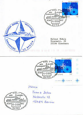 GERMANY NATO RESEARCH SHIP NRV ALLIANCE 2 SHIPS CACHED COVERS