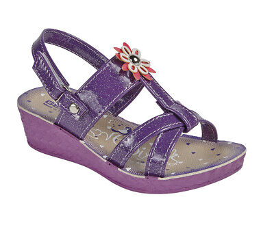 New Girls Fashionable Trendy Wedge Summer Sandal  With Flower Motif