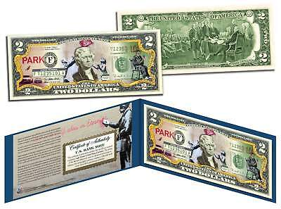 BANKSY * POSTING SIGNS * Colorized $2 Bill US Legal Tender Street Art Graphitti