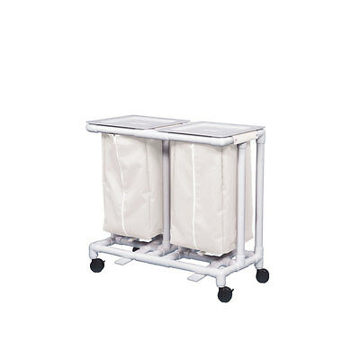 Double Linen Hamper with Footpedal Leakproof Mint White 1 EA