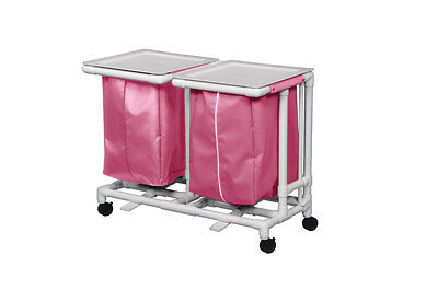 Double Jumbo Hamper with Footpedal Mesh Wineberry 1 EA
