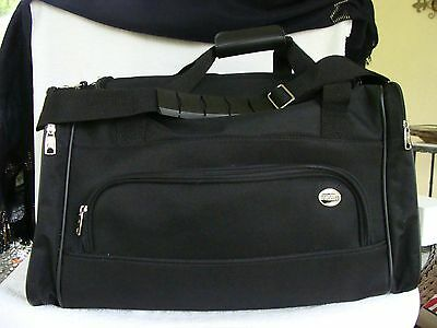 "American Tourister Black Duffle Bag Polyester Luggage Lightweight 20"" Mint"