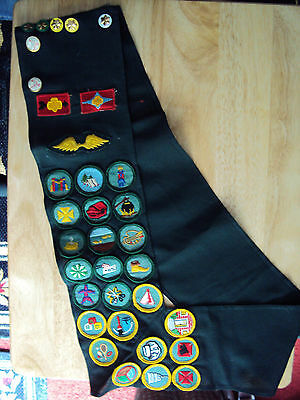 Vintage Girl Scouts Sash With Lots Of Badges