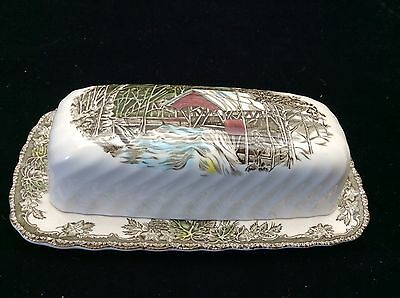 Johnson Brothers The Friendly Village China Covered Butter Dish