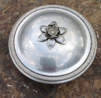 SILVERCREST by EVERLAST 209 Etched Hammered ALUMINUM CASSEROLE Bowl w/LID #209