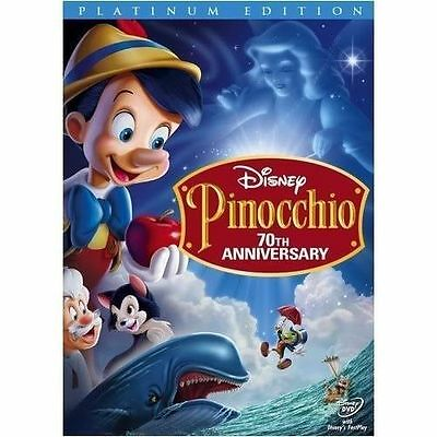 Pinocchio-DVD-2009-2-Disc-Set-70th-Anniversary-Platinum edition free shipping
