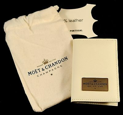Champagne Moet & Chandon: White Leather Credit Card Wallet, Ice Imperial Series