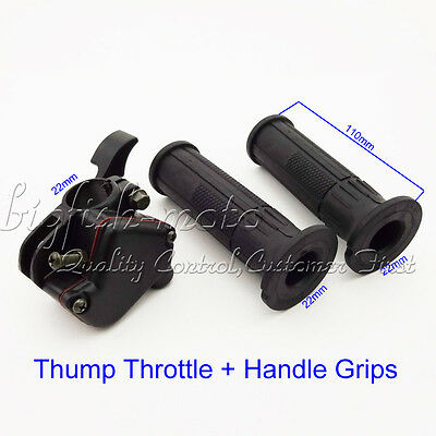 Thumb Throttle Accelerator Hand Grips For Chinese 50cc 70cc 90cc 110cc ATV Quad