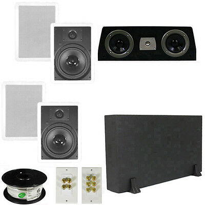 "5.1 Home Theater 8"" In Wall Speakers, Center, 8"" Powered Sub & More TS80WC51SET1"