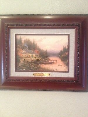 Thomas Kinkade Canvas Classic. End Of A Perfect Day 9X12. Cert of Auth included