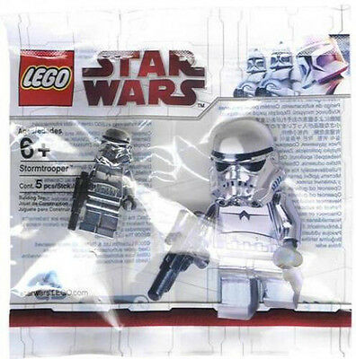 LEGO Star Wars Chrome Stormtrooper Minifigure Promotion Polybag promo Silver NEW