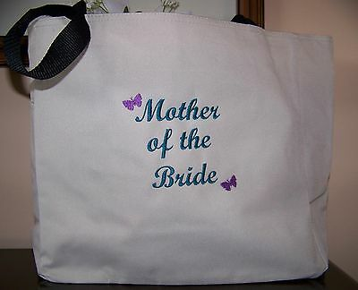 Girls Personalized Tote Bag Bridesmaids Gifts Bridal Wedding Embellishment Qty 3