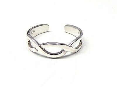 Funky 925 Sterling Silver Thin Plain Toe Ring with choice of Swarvoski Crystal