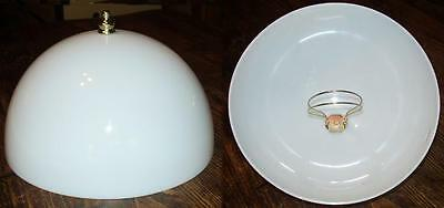 Easy Clip On Shade for old antique or bare hanging ceiling fixture, plain white