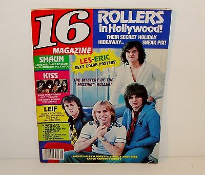 16 TEEN MAGAZINE MAY 1978 KISS THE BAY CITY ROLLERS PAUL STANLEY ACE FREHLEY