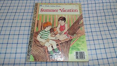 Vintage 1986 Little Golden Book Summer Vacation  206-56 preowned