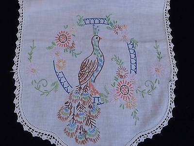 Antique/Vintage Linen Hand Embroidered Table runner 4pcs Lot#008