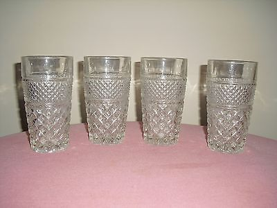 4 WEXFORD Water Tumblers / Glasses - Anchor Hocking