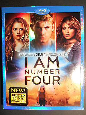 I Am Number Four (Blu-ray Disc, 2011) W/Slipcover