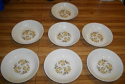 Set of (7) Taylor Smith Taylor TST Ever Yours QUINCE Cereal Bowls