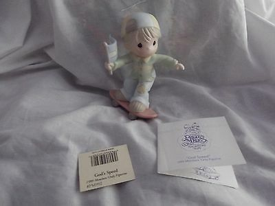 Precious Moments 1999 Members Only Figurine God's Speed Boys of skateboard