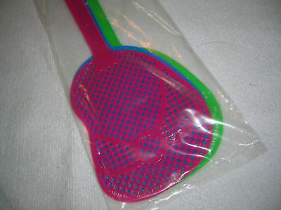 Fly Swatters BUG swatter decorative flip flop shape (3 PACK) Pink, Blue, Green
