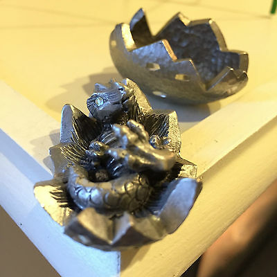 RAWCLIFFE PEWTER DRAGON HATCHLING