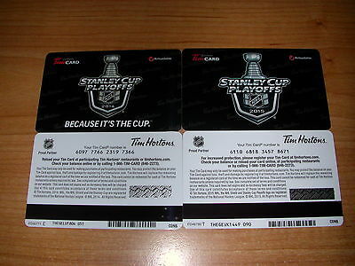 Tim Hortons NHL Stanley Cup Playoffs Gift Cards 2014 & 2015