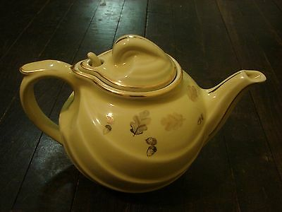 Vintage yellow Hall Tea Pot Perfect condition with lid Marked Hall Stamp Pretty!