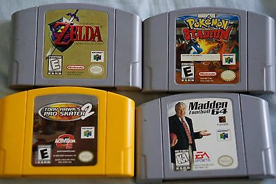 Legend of Zelda: Ocarina of Time, Pokemon Stadium and 2 more games (Nintendo 64)