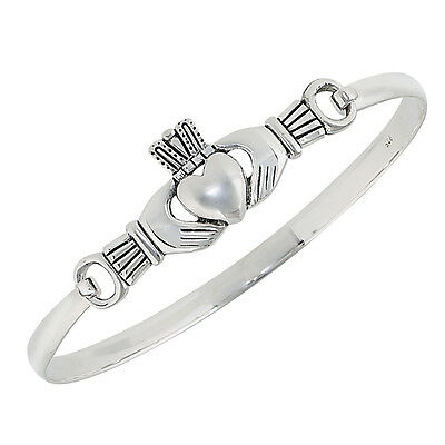Sterling Silver CLADDAGH Bangle Bracelet