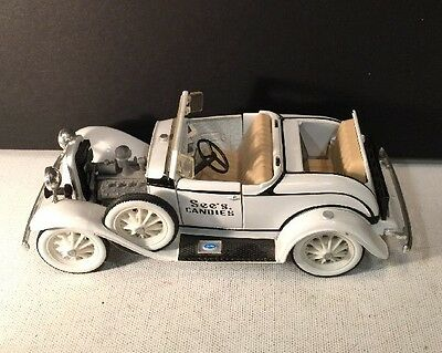 Collectible Miniature Ford  Car See's Candies #1407G White
