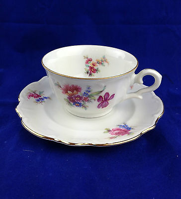 Bareuther Bavaria porcelain cup and saucer Germany us zone 1945 to 1949 vintage
