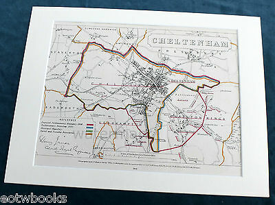 CHELTENHAM - Antique Map / Plan, in mount,  Boundary Commissioners Report - 1868