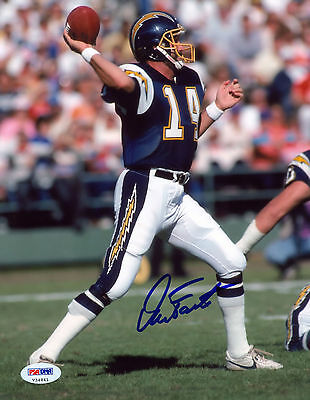 DAN FOUTS SIGNED PSA/DNA COA 8X10 PHOTO AUTO AUTOGRAPHED SAN DIEGO CHARGERS P1