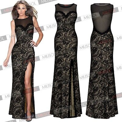 Womens Long Sexy Evening Party Ball Prom Gown Formal Bridesmaid Cocktail Dresses