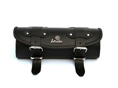 SiP) Black Leather Tool Roll Bag Suzuki Intruder VL c m 600 800 vs 1400 1500