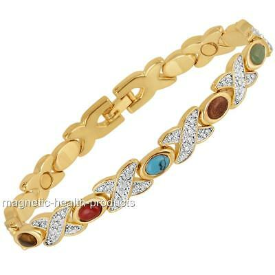 Ladies Magnetic Healing Bracelet Mixed Stone Bangle - Arthritis Pain Relief 43