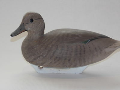 Vintage, Hand Carved, Green Winged Teal Wooden Duck Decoy, Signed!
