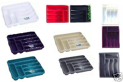 Plastic Cutlery Tray Holder Rack Draw Drawer Organizer Kitchen Tidy Storage
