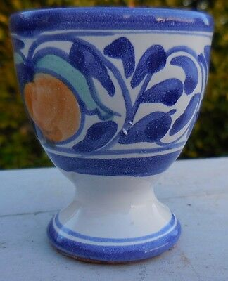 Vietri Desuir Hand Painted Art Pottery: Toothpick Holder / Small Cup:  Italy