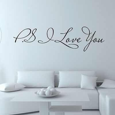 I Love You Removable Art Vinyl Mural Home Room Decor Wall Stickers V1