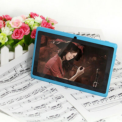 """Latest 7"""" Tablet PC MID 8GB Quad Core A33 Google Android 4.4 WiFi Dual Camera"""