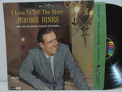 Jerome Hines I Love To Tell The Story Word 1966 LP Xian Autograph WST8365 Stereo