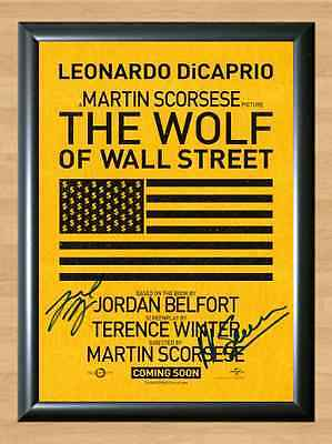 The Wolf of Wall Street Leonardo DiCaprio Signed Autographed A4 Poster Print dvd