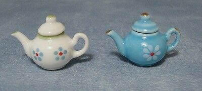 Teapot, Dolls House Miniatures Kitchen Accessory Dining Drinks