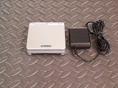 Nintendo Game Boy Advance SP silver Handheld System AGS101 BRIGHTER MODEL